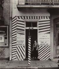 sidewalk and shopfront, new orleans by walker evans