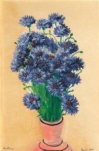 bouquet de bleuets by moïse kisling