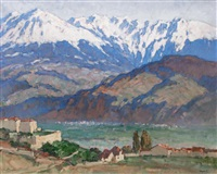 la chaine de belledonne, grenoble by georges gobo