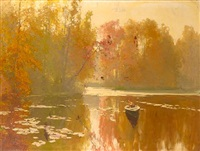 autumnal fishing by andrei nikolaevich shilder