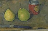 poires et couteau by paul cézanne