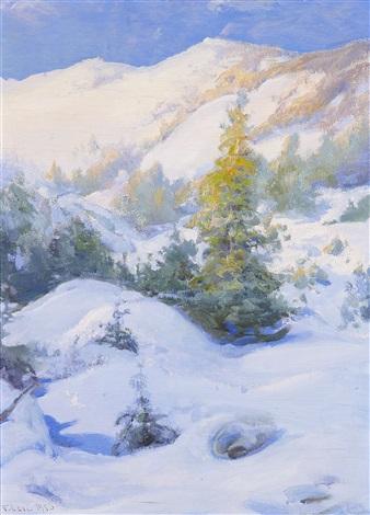 winter landscape by vassilij filippovich levi