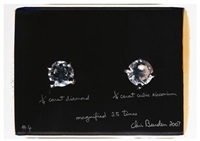 1/4 carat diamond 1/4 carat cubic zirconium magnified 25 times, #4 by chris burden