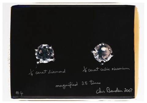 14 carat diamond 14 carat cubic zirconium magnified 25 times 4 by chris burden