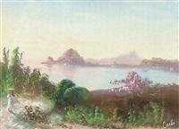 süditalienische küste mit blick auf ischia by augusto corelli