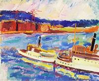 fartyg i hamnen by folke andreasson