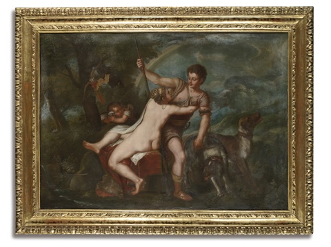 venus and adonis by titian tiziano vecelli