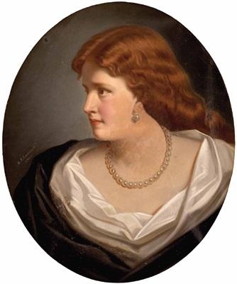 damenporträt by marcel johann von zadorecki