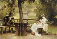 an afternoon idyll by george w. waters