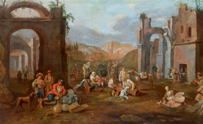 südlicher markt vor ruinen by jan miel