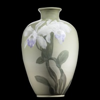 vase with orchids by albert r. valentien