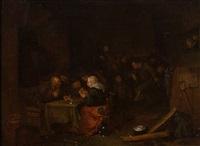scène d'auberge by egbert van heemskerk