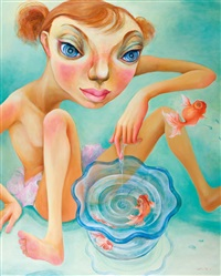 girl & goldfish by nao yokota