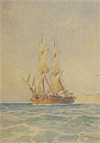 sailing boat by spyridon prosalentis