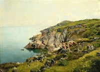 coastal scape from sweden by georg nicolaj achen