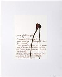 on ne s'habitue pas à l'art (série sanguis / mantis) by jan fabre