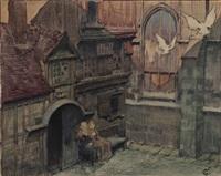 scène médiévale by jean georges cornelius
