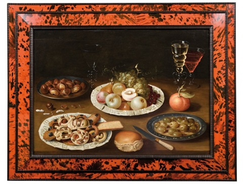 nature morte aux quatre plats et verres de vin by osias beert the elder