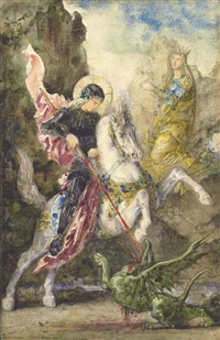 st. george and the dragon by gustave moreau