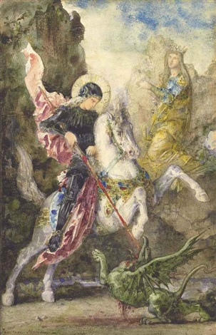 st george and the dragon by gustave moreau