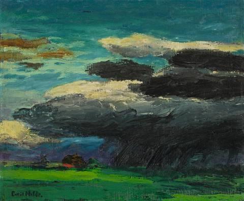 landschaft (mit regenwolke) by emil nolde