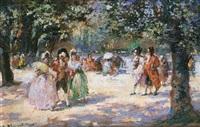 damas paseando by emilio alvarez díaz