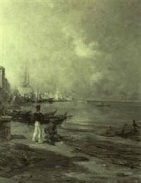 pêcheur et marin à toulon by paul bistaagne
