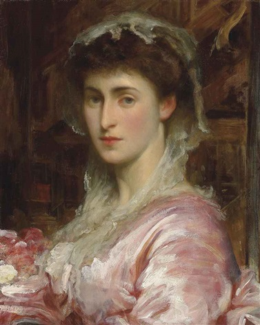 portrait of may sartoris mrs henry evans gordon by lord frederick leighton