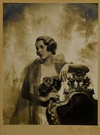 two portraits of betty fairfax, london by cecil beaton