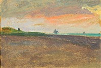 seascape from skagen (sketch) by michael peter ancher