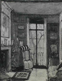sir osbert sitwell's drawing-room at carlyle square,    chelsea by ethel sands