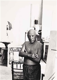 picasso, cannes by andré villers