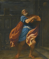 saint peter in penitence by lodovico carracci