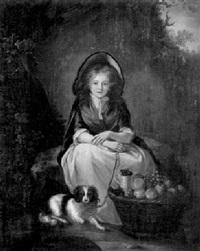 portrait de jeune fille avec des fruits by elisabeth bocquet le moine