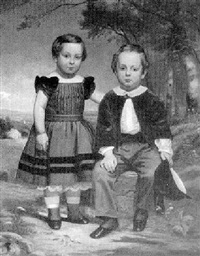 two children in a landscape by william g. boardman
