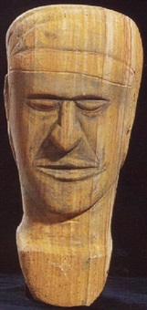 untitled (head of ancestral figure) by big john dodo