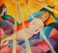 figura di donna al sole by giovanni varvaro
