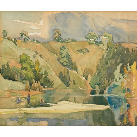 hills and water by franklin carmichael