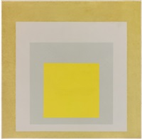 homage to the square: two grays between two yellows by josef albers