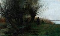 een boer bij de plas by gerard altmann