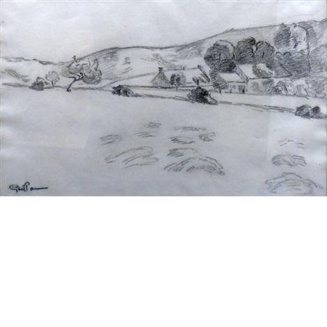 paysage avec ferme et collines by armand guillaumin