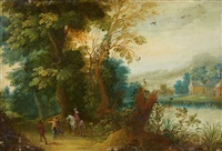 landscape with a horseman by anonymous-flemish (17)