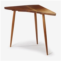 three-legged side table by george nakashima