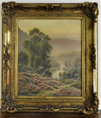 paysage aux bruyères by gaston anglade