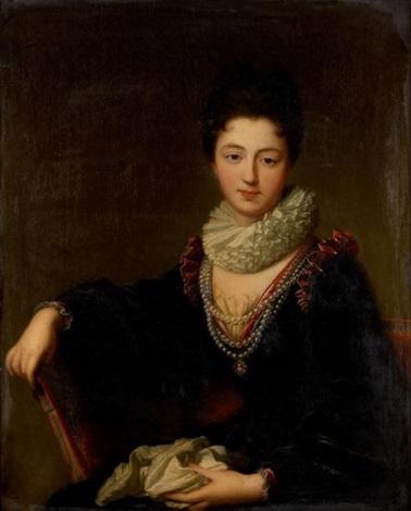 portrait de madame le peletier des forts by jean baptiste santerre