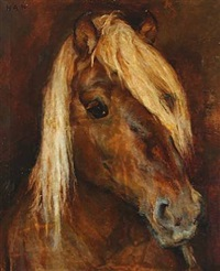 a horse with a light mane by helga ancher