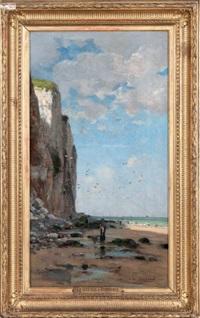 falaise près du tréport by gustave edouard le senechal de kerdreoret