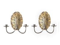 wall sconce (+ another; pair) by ernest william gimson