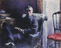 portrait de georges roman by gustave caillebotte