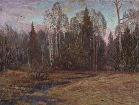 scandinavian forest steam by georg von rosen